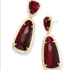 Kendra Scott Daria Bordeaux Tigers Eye Earrings